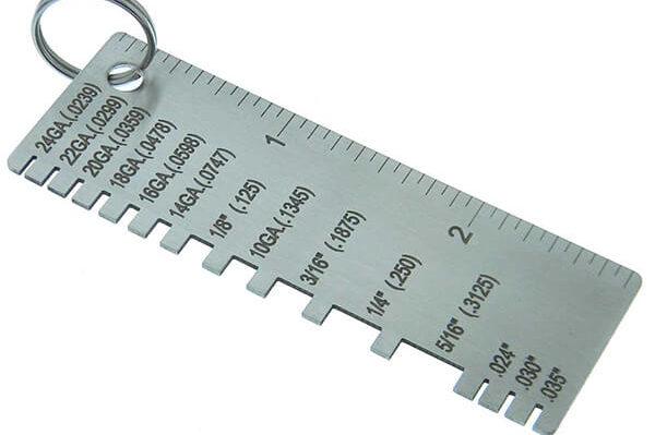 Steel gauge chart